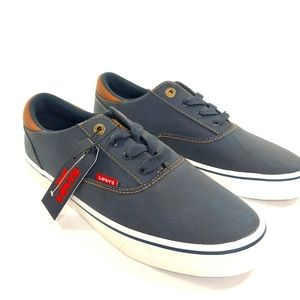 Levis Mens Sneakers Navy Skate Shoe NEW 9 Casual